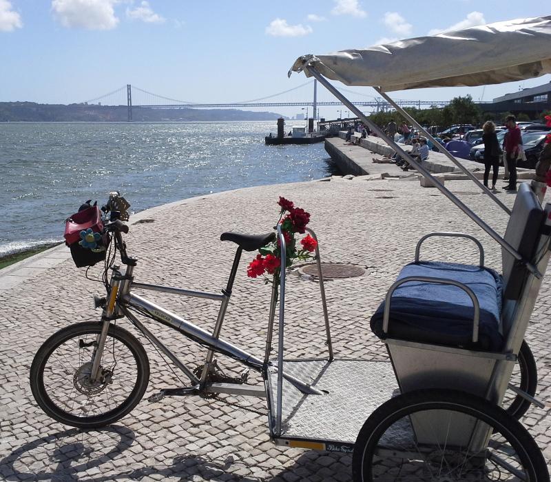 velocab rickshaw in Lisbon